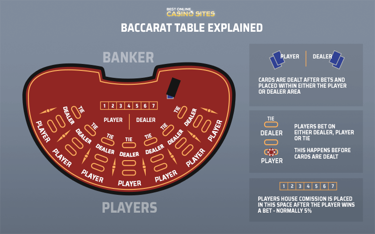baccarat table layout explained