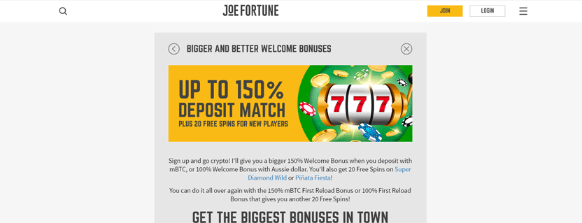 joe-fortune-casino-bitcoin-bonus