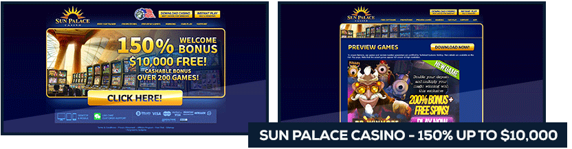 sun palace casino bingo welcome bonus