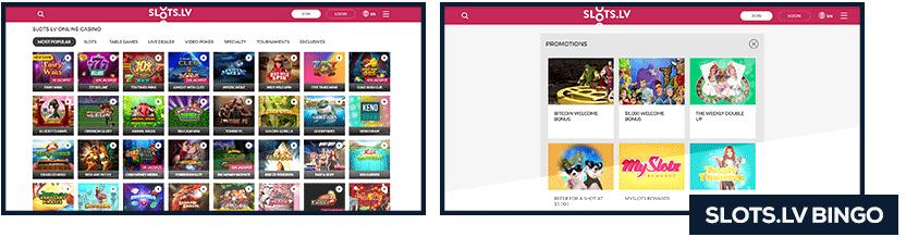 slots.lv bingo screenshot