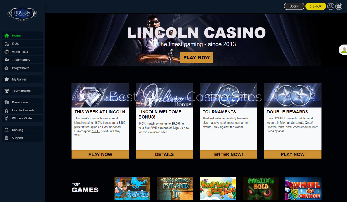 Lincoln Casino Review In 2020 Play With 5000 Welcome Bonus Verified