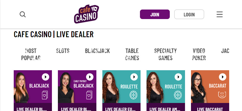 image of cafecasino free online casino games