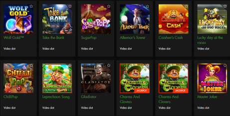 slots titles available on rich casino