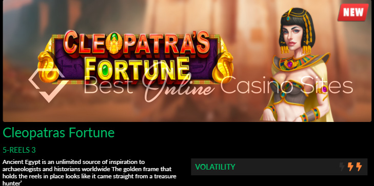 cleopatras fortune slot game by dragongaming at wild casino