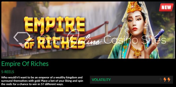 empire of riches slot game by dragongaming at wild casino