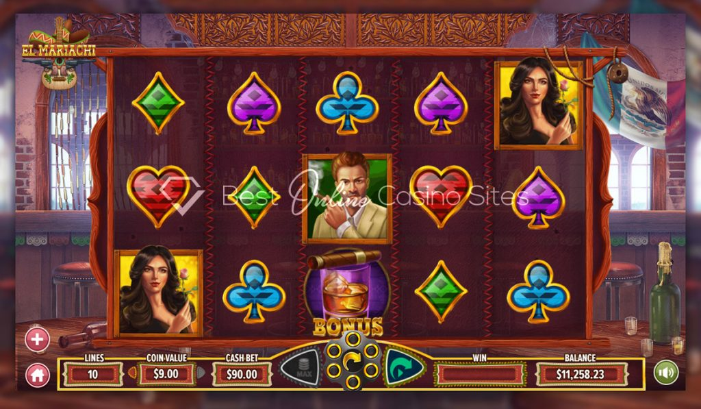 screenshot from dragongaming's el mariachi slot game