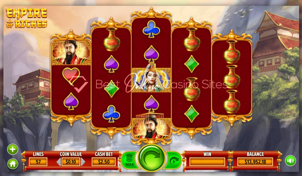 screenshot from dragongaming's empire of riches slot game
