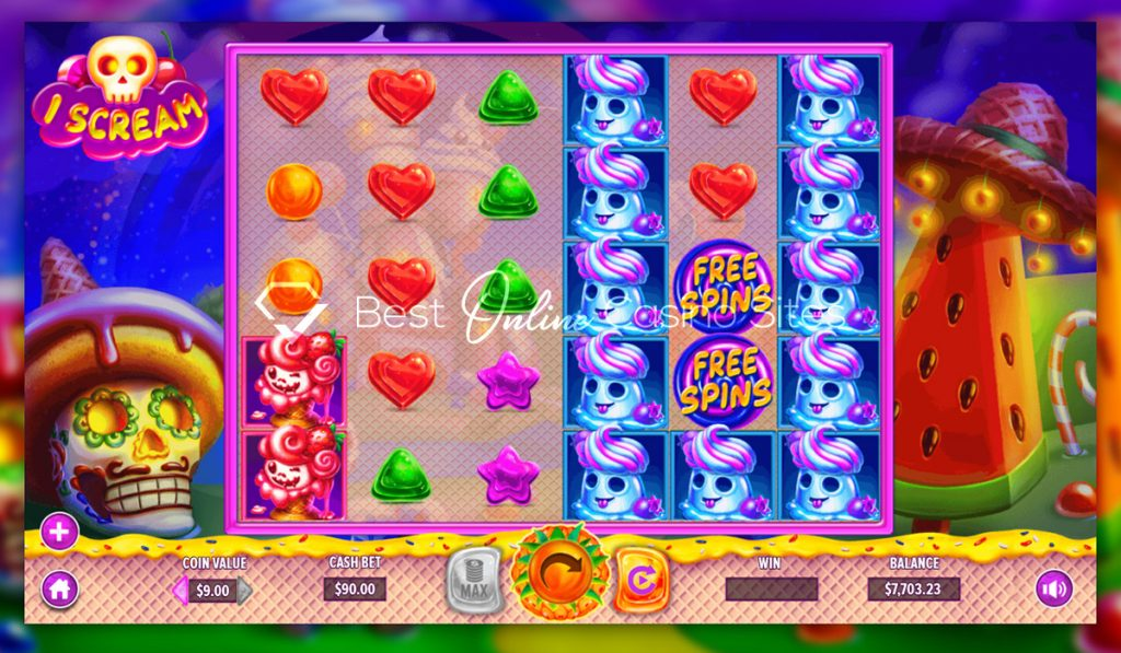 screenshot from dragongaming's iscream slot game
