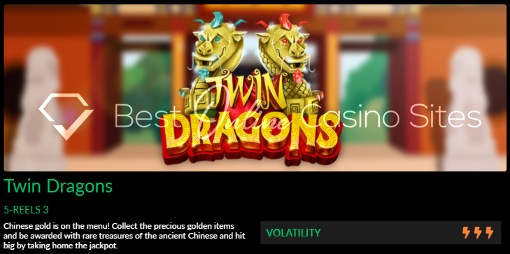 twin dragons slot game by dragongaming at wild casino