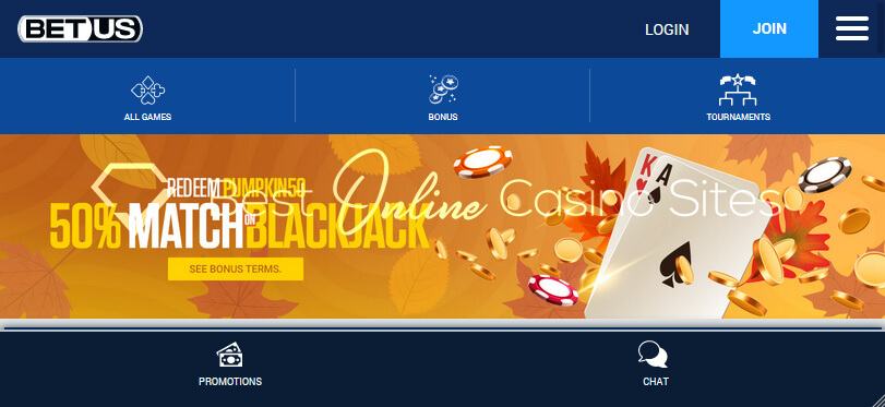 Image of BetUS Blackjack Promotion