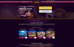 Aladdin's Gold Casino website