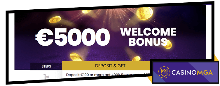 CasinoMGA Welcome Bonus