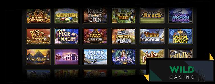 Wild Casino slot games