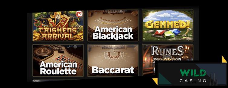 Games at Wild Casino