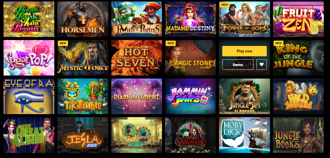 slot games library