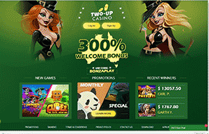 Two-up Casino website