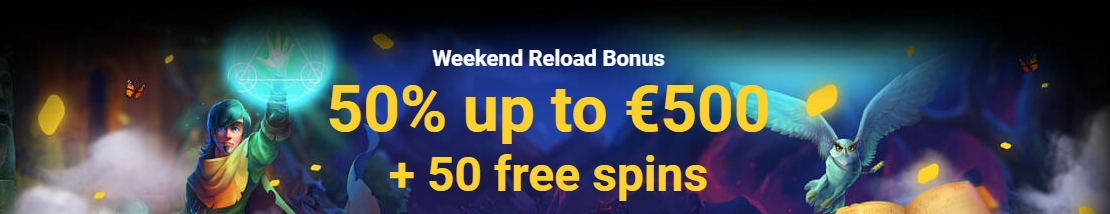 weekly reload bonus and free spins
